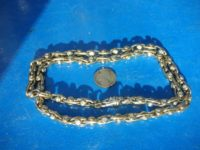 A 5.6 ounce (158.6 gr.) 14 white gold chain with 60 diamonds appraised at $30,000 CDN